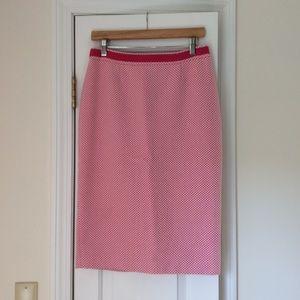 Boden Herringbone Pencil Skirt 6L